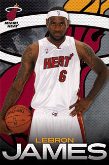 "LeBron James ""Serious Heat"" Miami Heat Poster - Costacos 2010"
