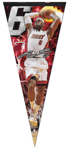 "LeBron James ""BIG-TIME"" Extra-Large Premium Felt Collector's Pennant - Wincraft 2013"