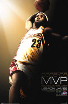 LeBron James NBA MVP 2008-09 Commemorative Poster - Costacos Sports