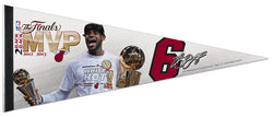 LeBron James Back-to-Back NBA Finals MVP Premium Felt Collector's Pennant - Wincraft 2013