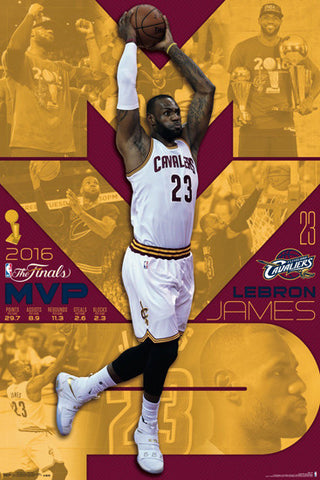 LeBron James 2016 NBA Finals MVP Cleveland Cavaliers Commemorative Poster - Trends
