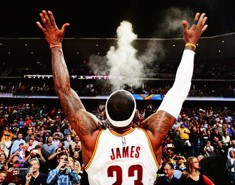 "LeBron James ""Game Ready"" (The Chalk Toss) Cleveland Cavaliers Premium Poster Print - Photofile Inc."