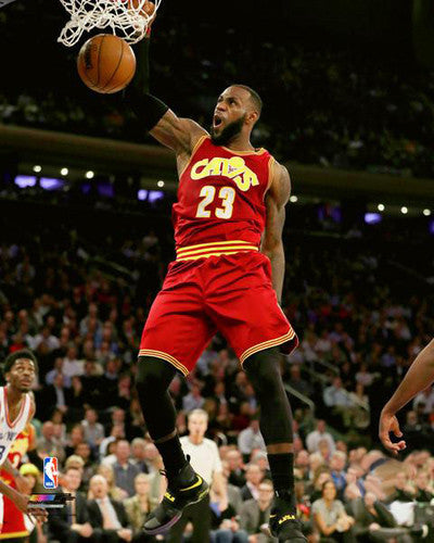 "LeBron James ""Power Slam"" (2017) Cleveland Cavaliers Premium NBA Poster Print - Photofile 16x20"