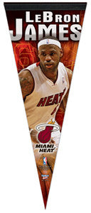 "Lebron James ""Heat Action"" Premium Felt Collector's Pennant - Wincraft 2012"