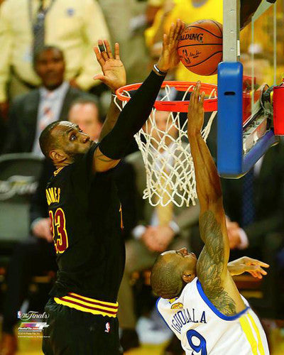"LeBron James ""The Block"" (2016 Finals Game 7) Cleveland Cavaliers Premium Poster Print (16""x20"" Edition)"