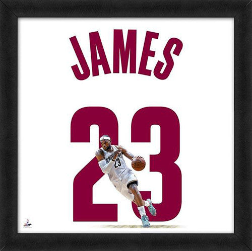 "LeBron James ""Number 23"" Cleveland Cavaliers FRAMED 20x20 UNIFRAME PRINT - Photofile"