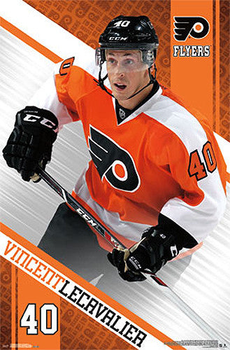 "Vincent Lecavalier ""Action"" Philadelphia Flyers NHL Hockey Poster - Costacos 2013"
