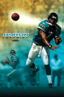 "Byron Leftwich ""Cannon"" Jacksonville Jaguars Poster - Costacos 2005"