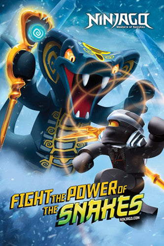 "Lego Ninjago ""Fight the Power of the Snakes"" Official Poster - Pyramid"