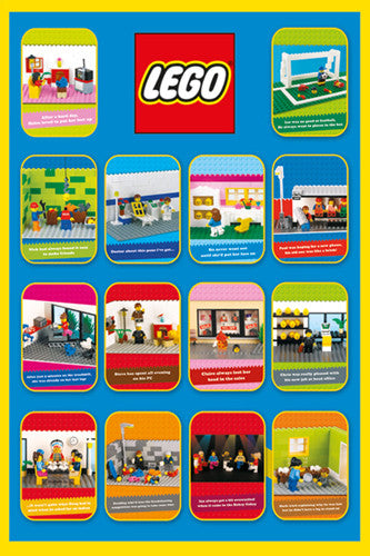 "Lego ""Jokes from a Typical Day"" Poster - Pyramid International"