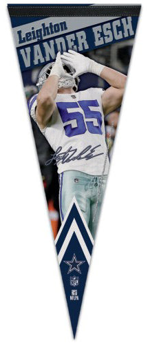 Leighton Vander Esch Dallas Cowboys Signature-Series Premium Felt Collector's PENNANT - Wincraft Inc.