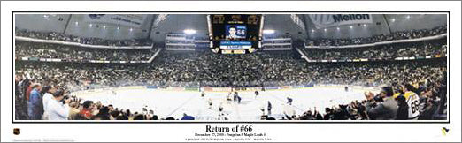 "Mario Lemieux ""Return of #66"" (2001) Mellon Arena Panoramic Poster - Everlasting Images"