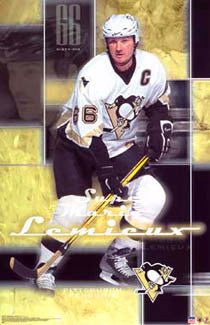 "Mario Lemieux ""Super Mario"" Pittsburgh Penguins Poster - Starline 2003"