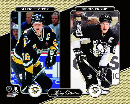 "Pittsburgh Penguins ""Legacy"" Mario Lemieux and Sidney Crosby Premium Poster - Photofile 16x20"