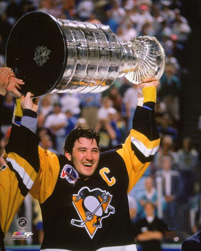"Mario Lemieux ""Raise the Cup"" (1992) Pittsburgh Penguins Premium Poster Print - Photofile Inc."