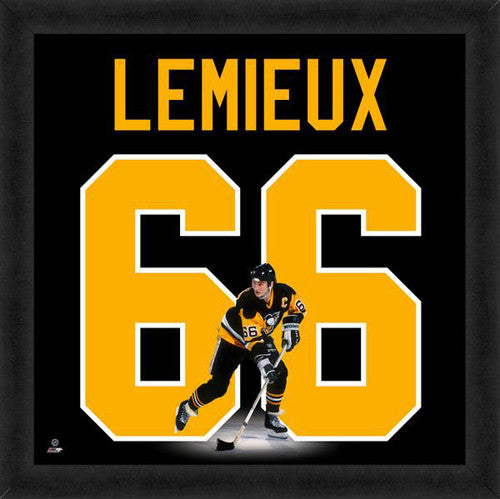 "Mario Lemieux ""Number 66"" Pittsburgh Penguins FRAMED 20x20 UNIFRAME PRINT - Photofile"