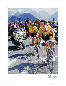 Greg LeMond vs. Bernard Hinault 1986 Tour de France Premium Poster Print - Graham Watson