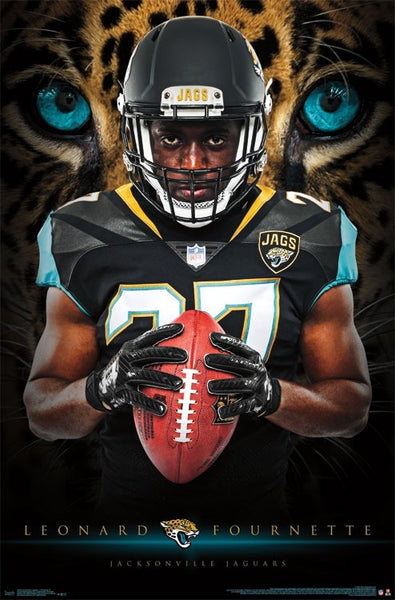 "Leonard Fournette ""Superstar"" Jacksonville Jaguars NFL Football Poster - Trends International"