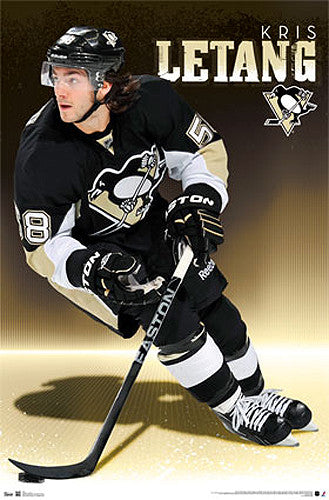 "Kris Letang ""Superstar"" Pittsburgh Penguins NHL Action Poster - Costacos 2013"
