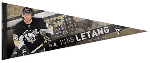 "Kris Letang ""Superstar"" Pittsburgh Penguins NHL Premium Felt Collector's Pennant - Wincraft 2013"