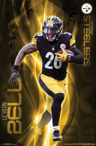 "Le'Veon Bell ""Trailblazer"" Pittsburgh Steelers Official NFL Football Action Poster - Trends 2017"