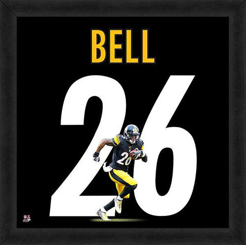 "Le'Veon Bell ""Number 26"" Pittsburgh Steelers FRAMED 20x20 UNIFRAME PRINT - Photofile"