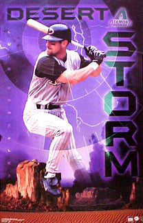 "Luis Gonzalez ""Desert Storm"" Arizona Diamondbacks Poster - Starline 2001"