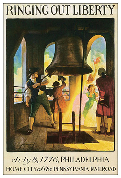 Ringing out Liberty (July 8, 1776, Philadelphia) Historic Poster Reprint - Eurographics Inc.