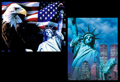 "Statue of Liberty Combo (""Eagle"" and ""Twin Towers"") 16x20 Posters"