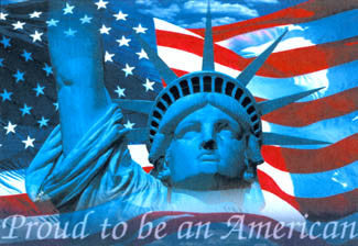 """Proud to be an American"" - Image Source 2001"