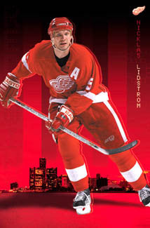"Nicklas Lidstrom ""Big D"" Detroit Red Wings Poster - Costacos Sports 2002"