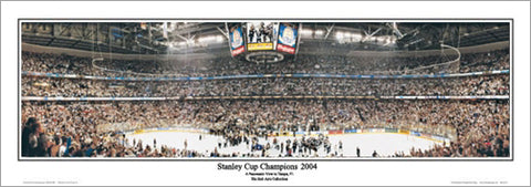 ea616cc42 Tampa Bay Lightning 2004 Stanley Cup Champs Panoramic Poster Print -  Everlasting Images