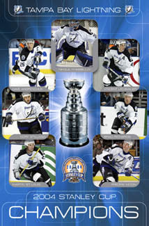 Tampa Bay Lightning 2004 Stanley Cup Champions Commemorative Poster - Costacos Sports