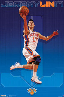 "Jeremy Lin ""Superstar"" New York Knicks NBA Action Poster - Costacos 2012"