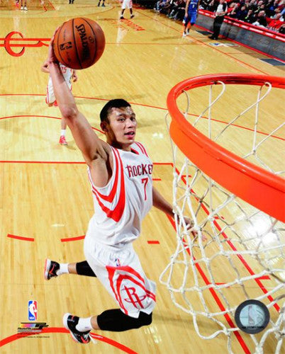 "Jeremy Lin ""Fast Break"" Houston Rockets Premium Poster Print - Photofile 16x20"