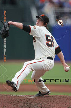 "Tim Lincecum ""Action"" San Francisco Giants Poster - Costacos 2009"
