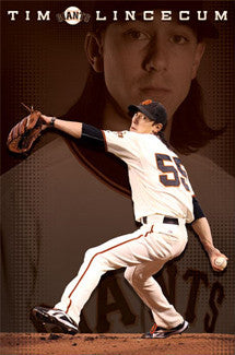 "Tim Lincecum ""Superstar"" San Francisco Giants Poster - Costacos Sports"