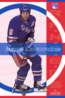 "Eric Lindros ""Rangers Action"" New York Rangers Poster - Costacos 2001"