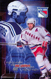 "Eric Lindros ""Eighty-Eight"" New York Rangers Poster - Starline 2001"