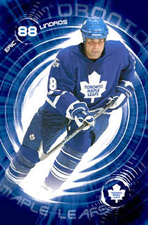 "Eric Lindros ""Big Blue"" Toronto Maple Leafs Poster - Costacos 2005"