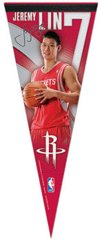 "Jeremy Lin ""Rocket Launch"" Houston Rockets Premium Felt Collectors Pennant - Wincraft"