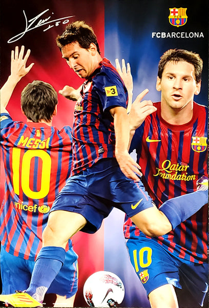 "Lionel Messi ""Triple-Action"" FC Barcelona Soccer Poster - GE (Spain)"