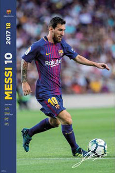 "Lionel Messi ""Big Boot"" FC Barcelona Official La Liga Soccer Action Poster - G.E. (Spain) 2017"