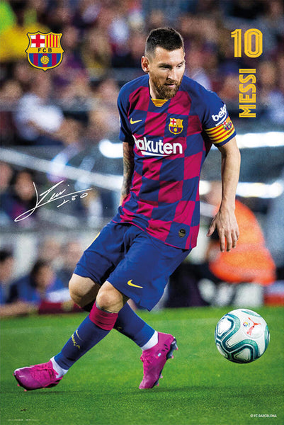"Lionel Messi ""Magnificent"" FC Barcelona Official La Liga Soccer Action Poster - G.E. (Spain)"