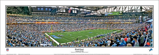 "Detroit Lions Ford Field Gameday ""Field Goal"" (2012) Panoramic Poster Print - Everlasting"