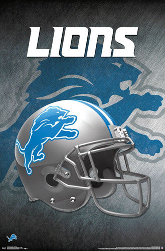 Detroit Lions Official NFL Football Team Helmet LOGO Poster - Trends International