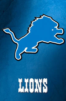 detroit lions lions blue official nfl team logo poster costacos sports