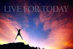 "Jump for Joy ""Live For Today"" Motivational Poster - Image Source"