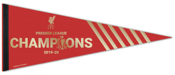 Liverpool FC 2020 Premier League Champions Official Premium Felt Collector's Pennant - Wincraft