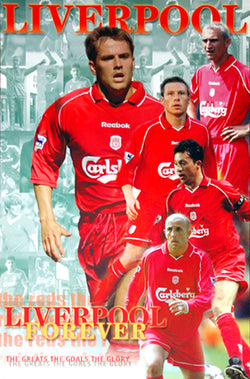 "Liverpool FC ""Liverpool Forever"" Classic Soccer Poster - U.K. 2000"